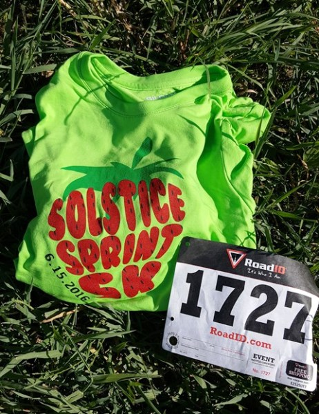 Solstic Sprint 5k - bib