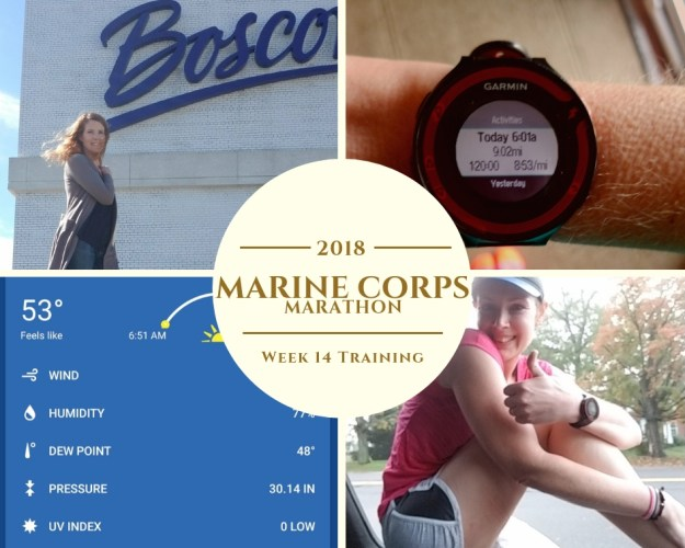 Marine Corps Marathon Training - Week 14