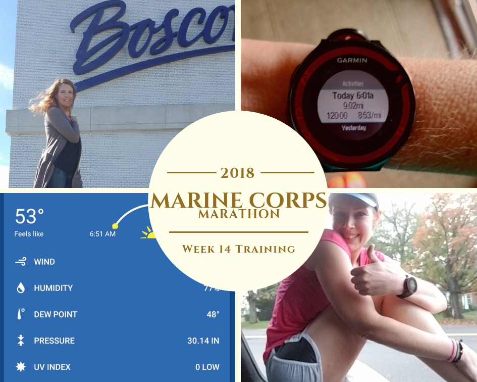 Marine Corps Marathon Training Week 14