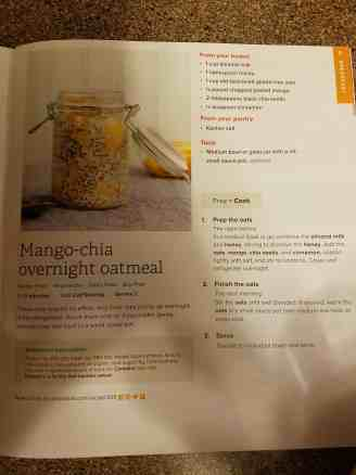 Mango-chia overnight oatmeal recipe