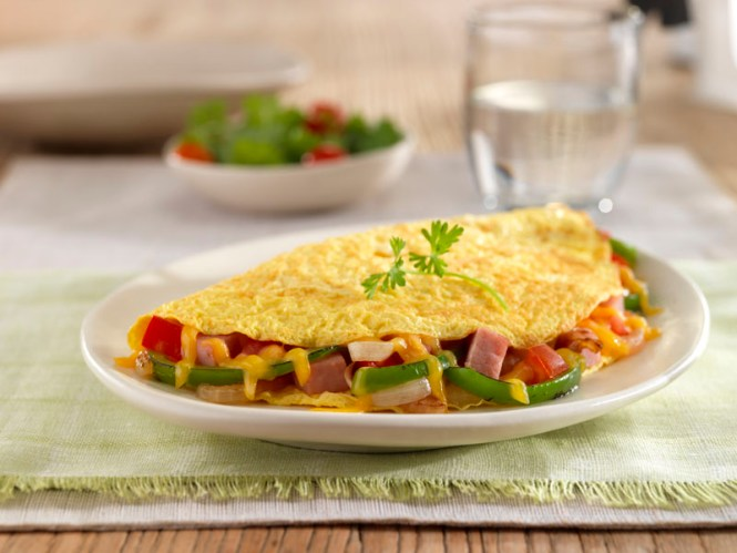 Ham and Vegetable Omelet