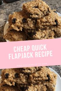 Cheap quick flapjack recipe www.fuelledbylatte.com