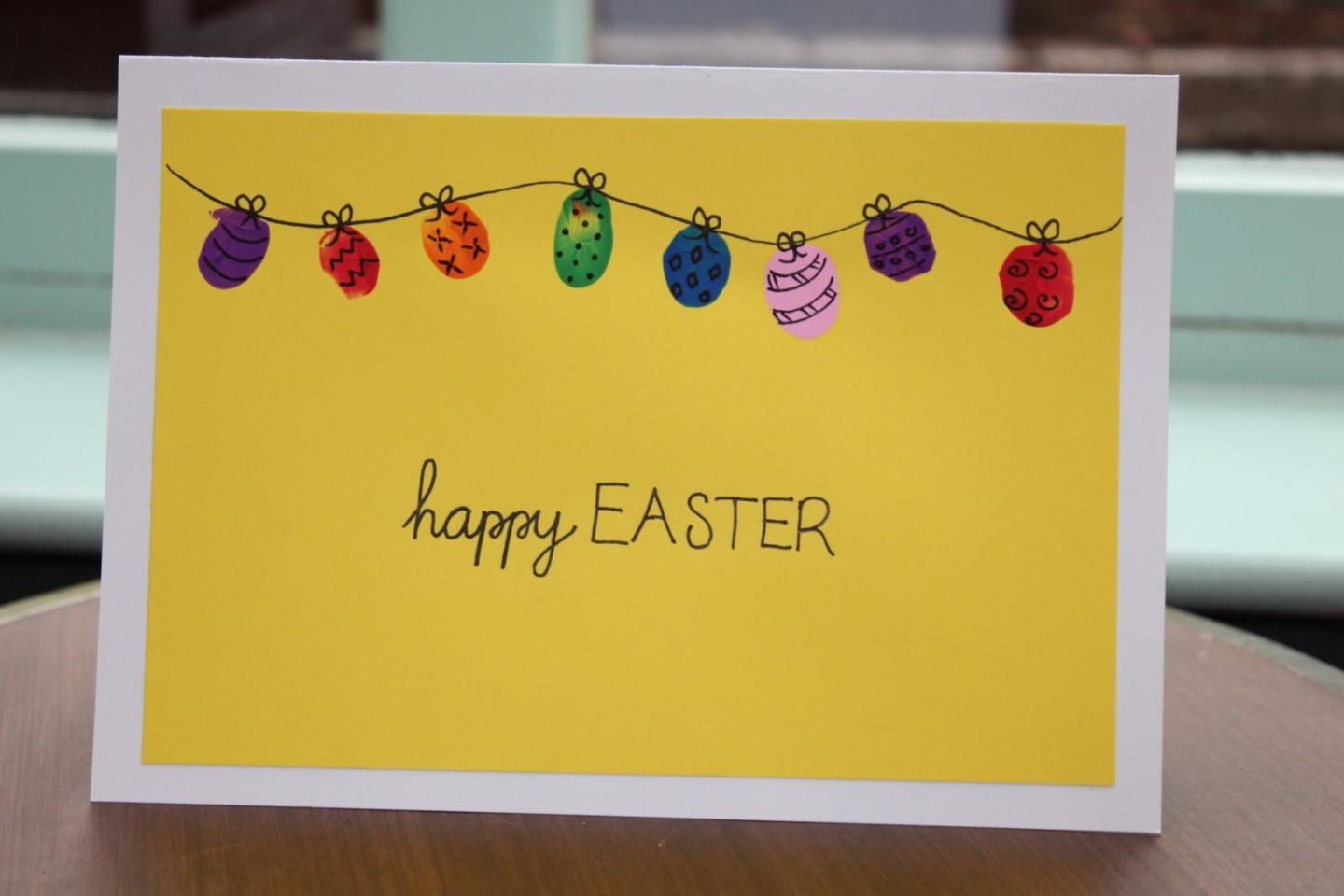 Cute Finger Print Easter Cards