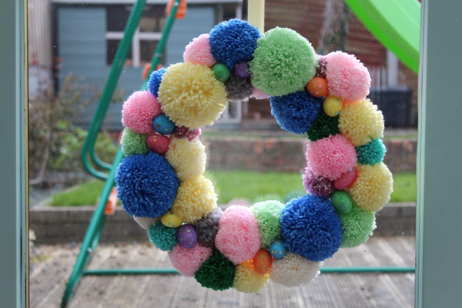 Easter Pom Pom Wreath