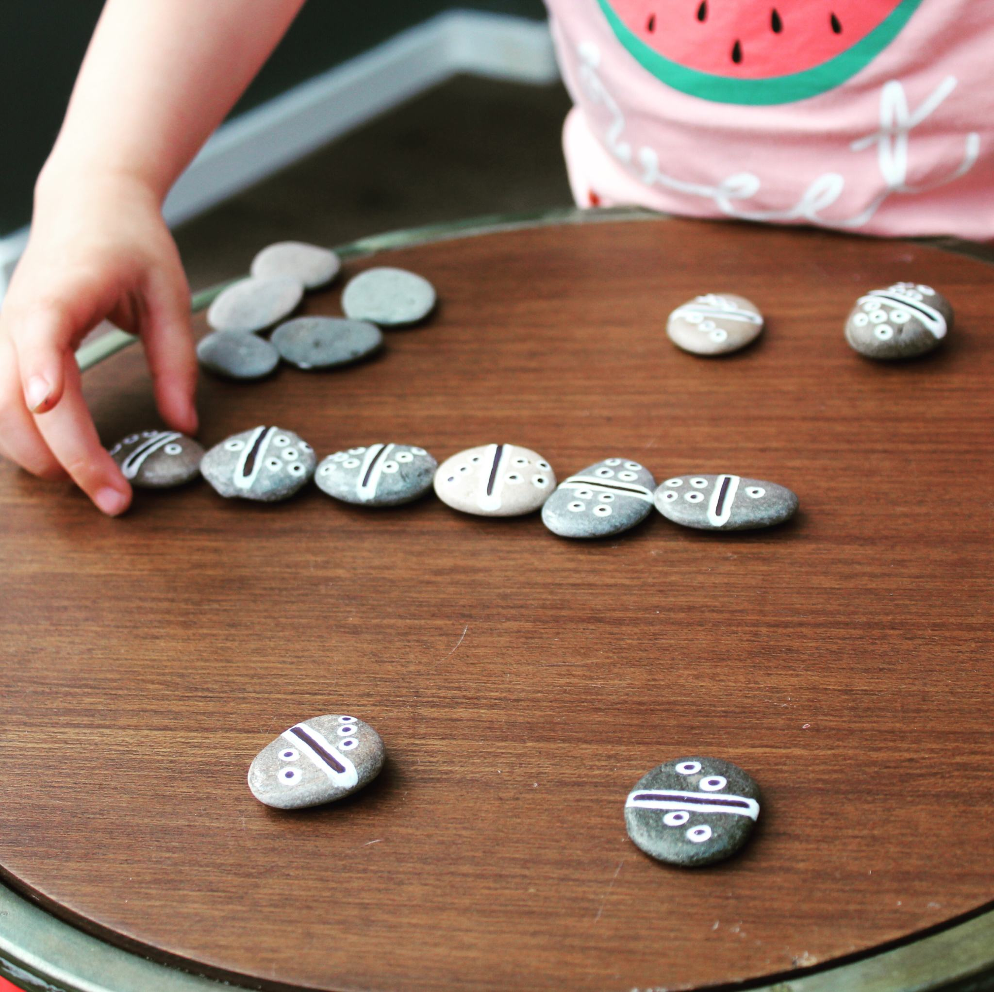 Five Favourite Painted Pebble Activites for Kids