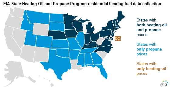 EIA: Residential Heating Oil and Propane Prices Up From Last