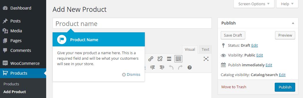 WordPress E-Commerce Add Product