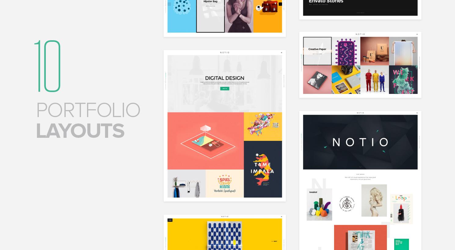 Notio - Deluxe Portfolio Theme