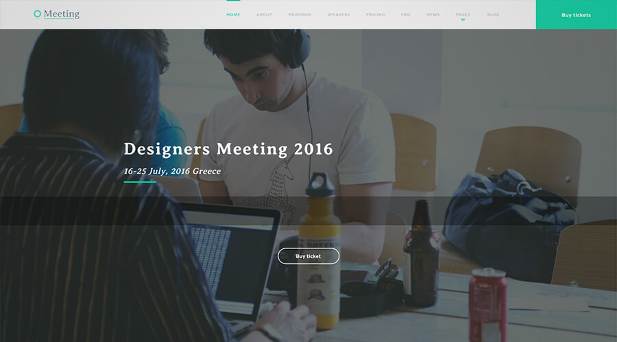 WordPress One Page Themes: Meeting