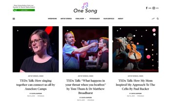 One Song Magazine WordPress Theme
