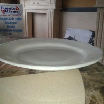 plato marmol blanco macael