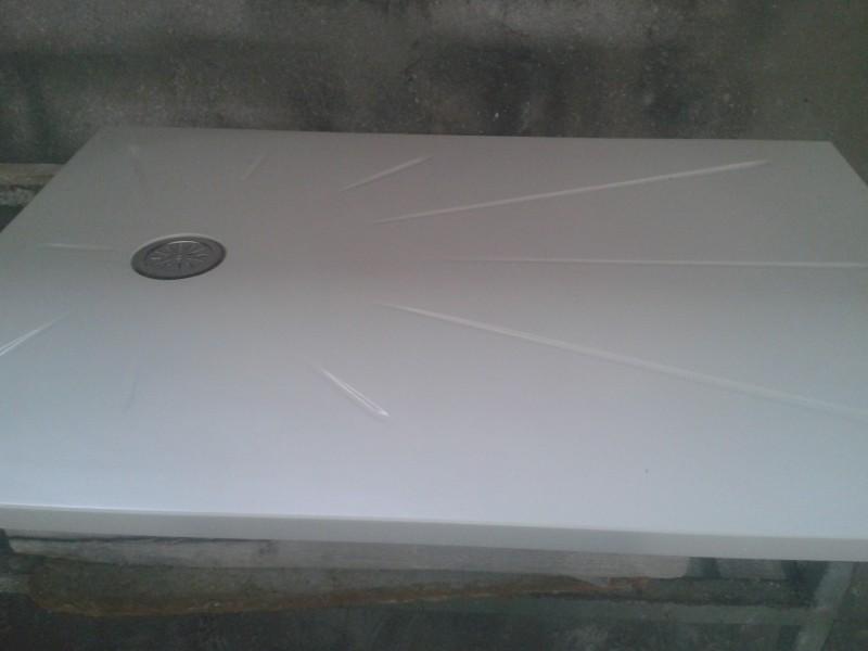 plato ducha grande compacto blanco