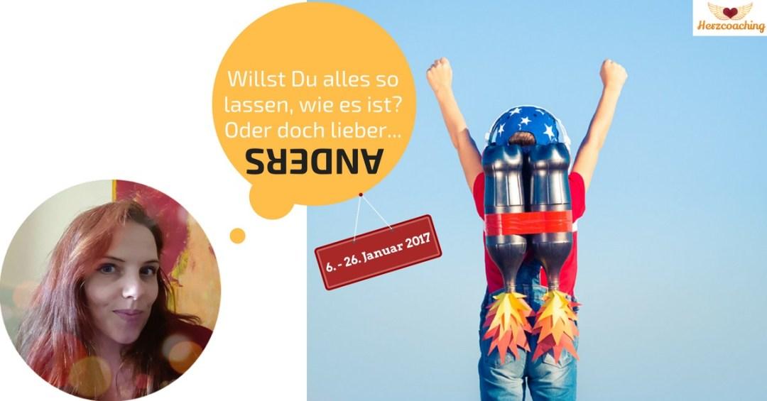 """Mach mit bei der Herzcoaching-""""Mach's ANDERS!""""-Challenge"""