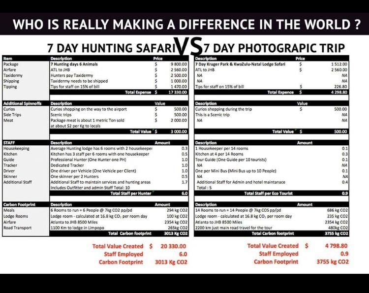 Hunting Safari vs Photographic Trip