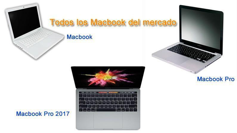 Imagenes de algunos modelos de Macbook