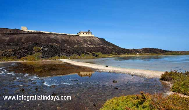 Faro de Martiño en la isla de Lobos