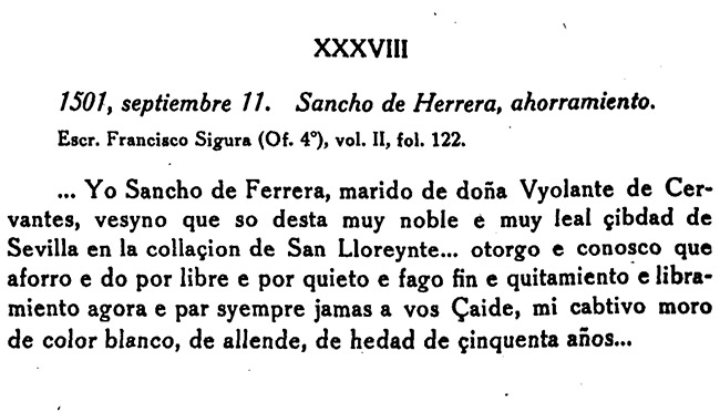 documento del Archivo Notarial de Sevilla