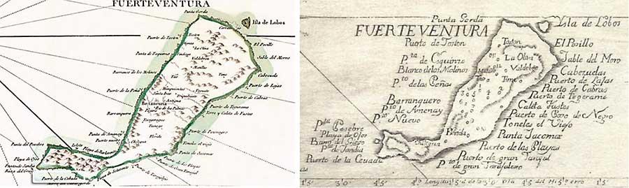 MAPAS DE FUERTEVENTURA - SIGLO XVIII