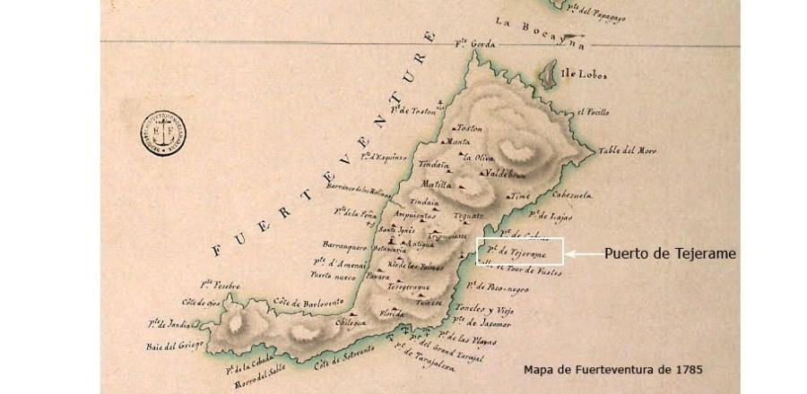 Mapa de Fuerteventura de 1785