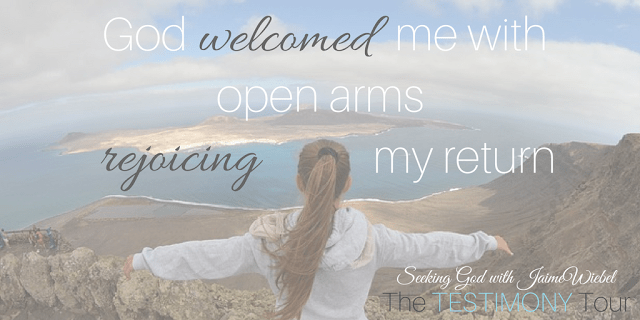 God is faithful and oh, so good. He like the Father in this story allowed me to repent and when I came running back to Him, He welcomed me with open arms rejoicing my return.