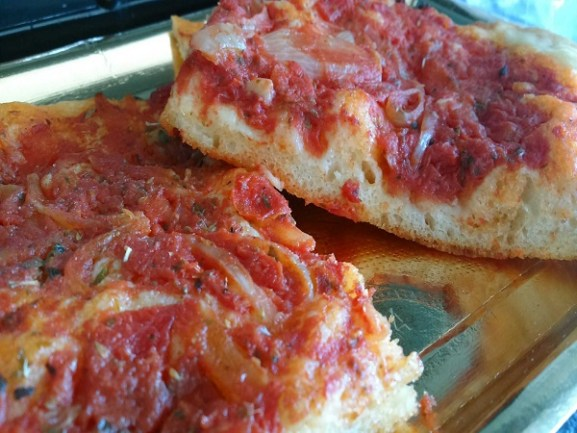 como preparar pizza siciliana