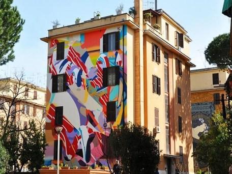A arte de rua em tor marancia roma