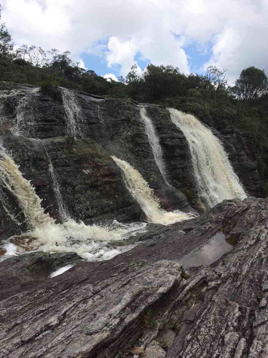 Primeiro nível da queda d'água da Cachoeirinha