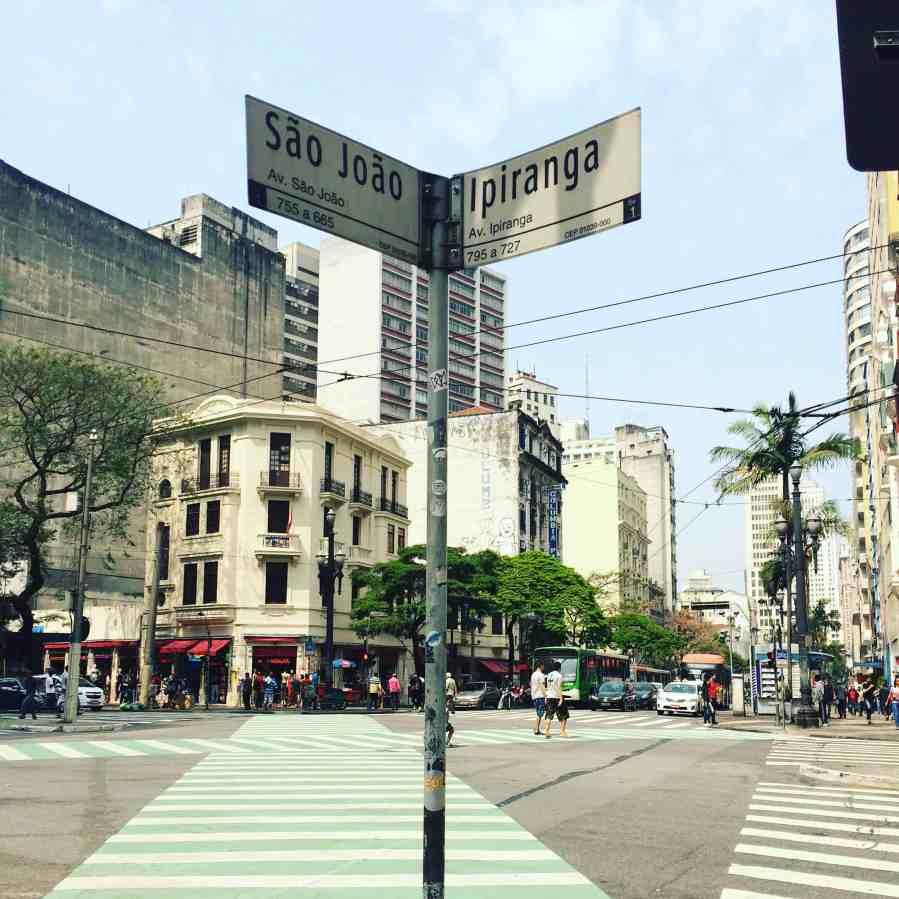 Cruzamento Ipiranga São João - São Paulo
