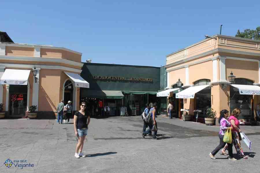 Mercado Central em Santiago