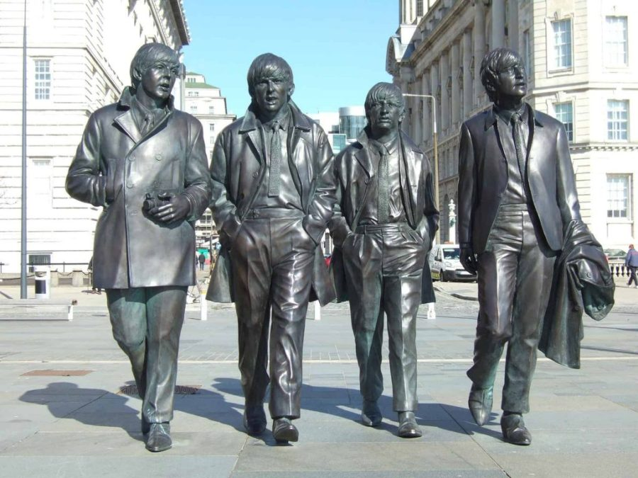 Estátua dos Beatles, Liverpool. Foto: Reprodução.