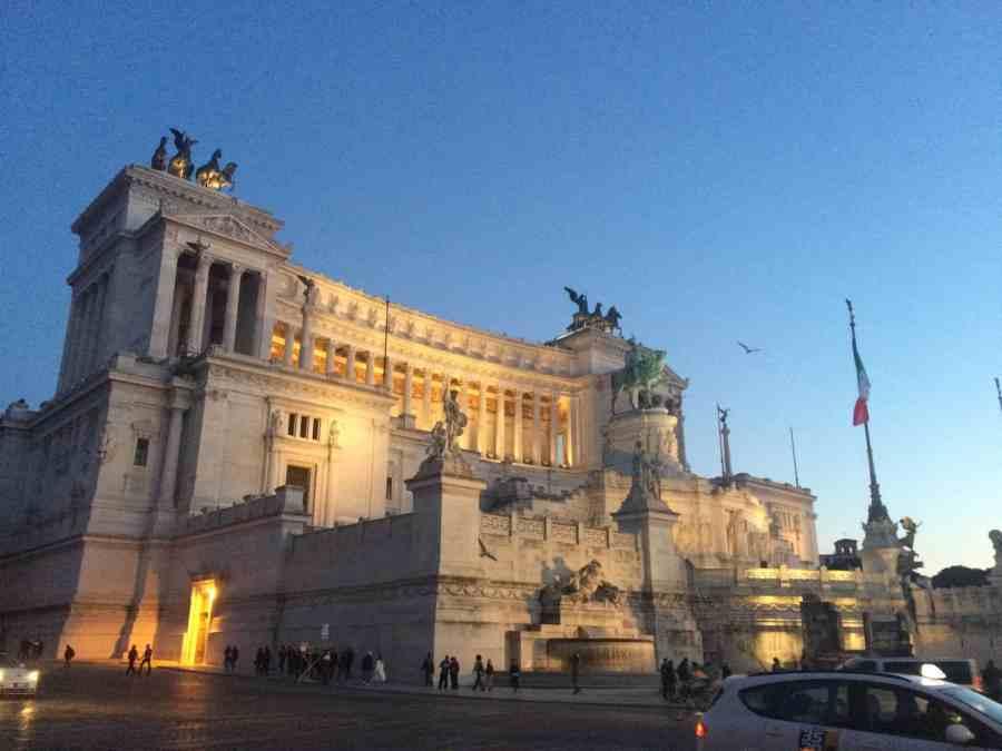 Monumento a Vitorio Emanuelle - Roma. O que fazer em 3 dias em Roma