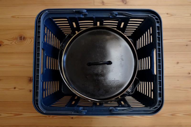 ダッチオーブンの収納カゴ