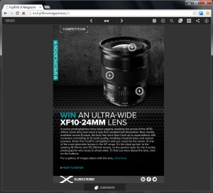 Fujifilm X Magazine competition. Win an XF10-24mm lens!