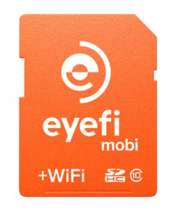 With the Eyefi Mobi card you can wirelessly transfer images to a computer or tablet, even if you have an X-Pro 1, X-E1 or X-100(s) that doesn't have WIFI.