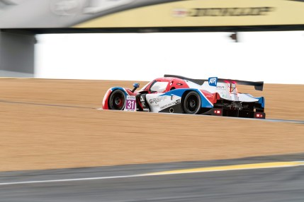 Graff Ligier-Nissan on track during the Road To Le Mans support race