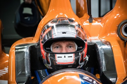 2014 LMP2 winner of the 24 Hours of Le Mans prepares for qualifying for the 2016 race