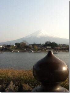 六角堂から富士山
