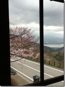 太宰治文学記念室からの富士山