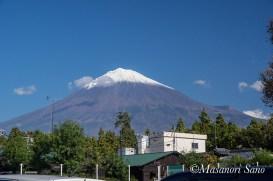 富士宮市中央図書館駐車場からの富士山