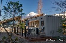 モウデルコーヒーと富士山