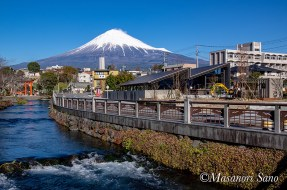ブルワリー&レストランと富士山