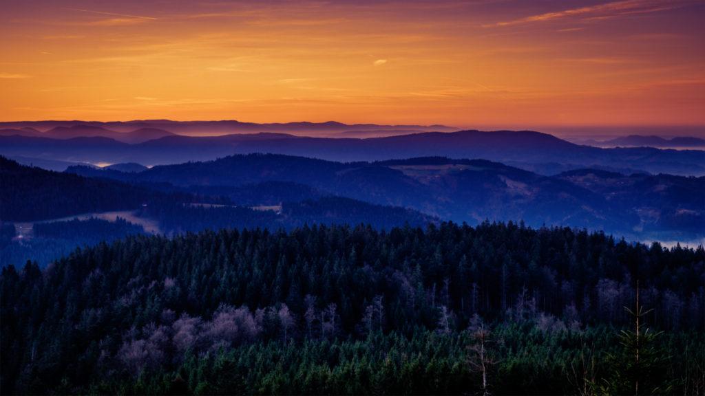 Sonnenaufgang über dem Schwarzwald | Fujifilm | X-T1 | 18-55mm