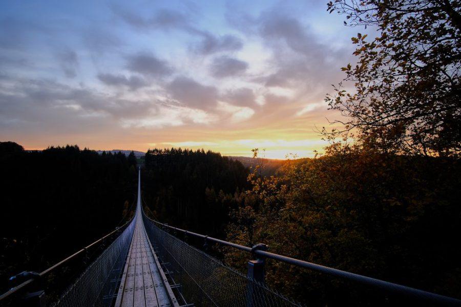 Sonnenuntergang am Geierlay | Fujifilm X-T3 | 12mm