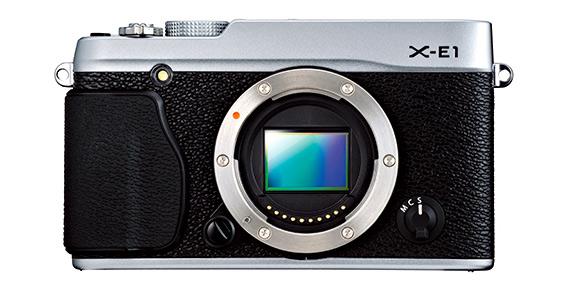 Fuji X-E1 plateada, sensor