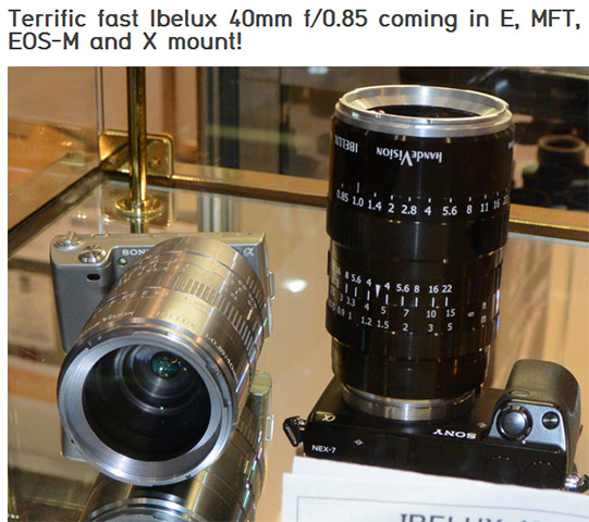 Ibelux  40mm f/.085 super luminoso