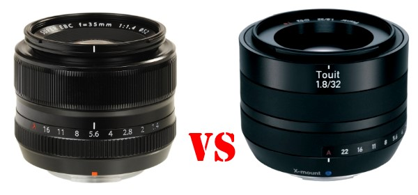 Zeiss Touit 32mm f/1.8 frente a Fujinon XF 35mm f/1.4 R