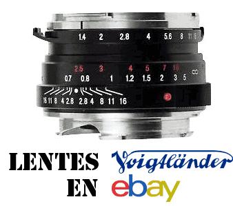 Comprar lentes voigtländer con montura M en eBay.