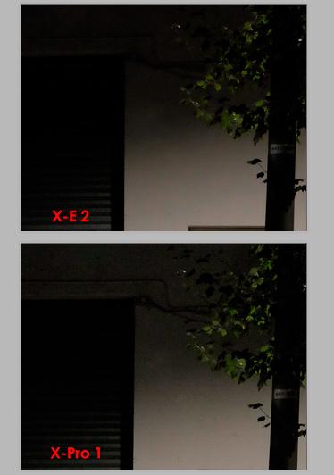 Fuji X-Pro1 vs Fuji X-E2. ISO 5000.