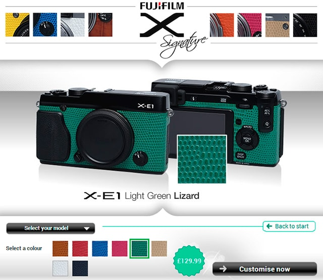 Fuji X-E1 verde lagarto