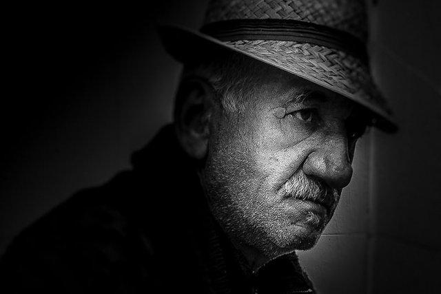 """""""Retrato en negro"""" por José Ramón Justo, con Fuji X-M1."""